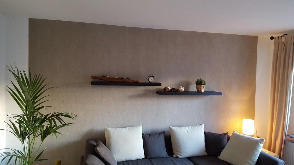 Wandgestaltung Mit FantasticFlees U0026 Deco Lasur In Einem Wohnzimmer In  Offenbach Am Main.